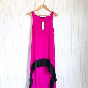 JAYGODFREY Silk Hi Low Color  Block Maxi Dress,  6